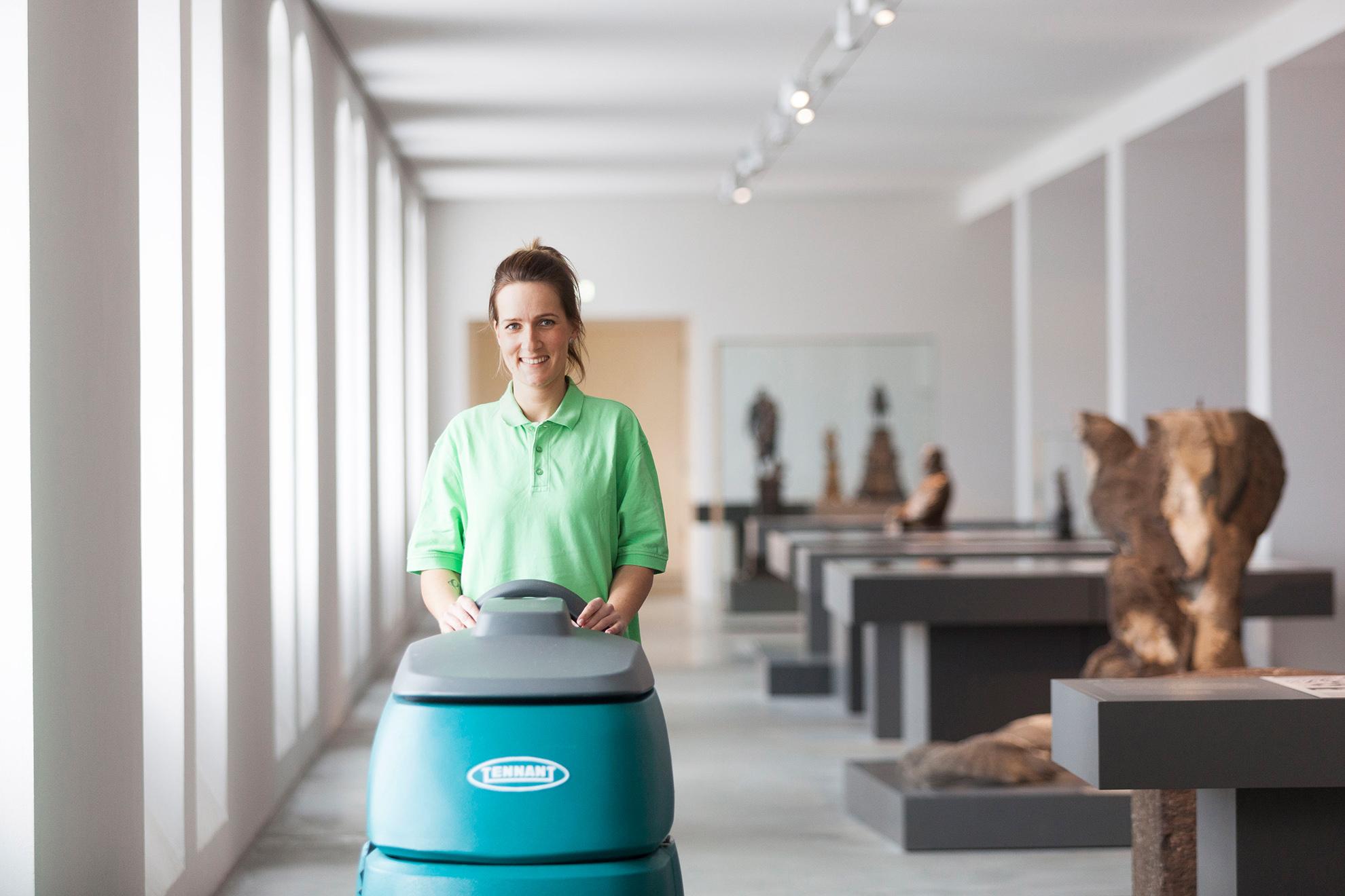 Unterhaltsreinigung im Museum